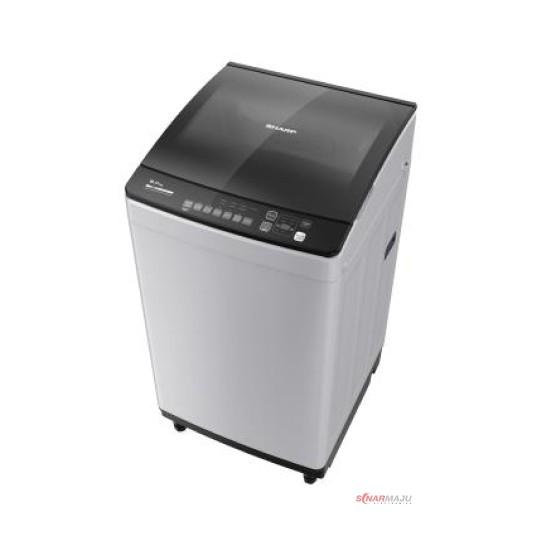 Mesin Cuci 1 Tabung Sharp 9 Kg Top Loading ES-M9000T-GG