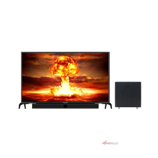 LED TV 43 Inch Polytron Full HD Cinemax Soundbar PLD-43BS1553/W