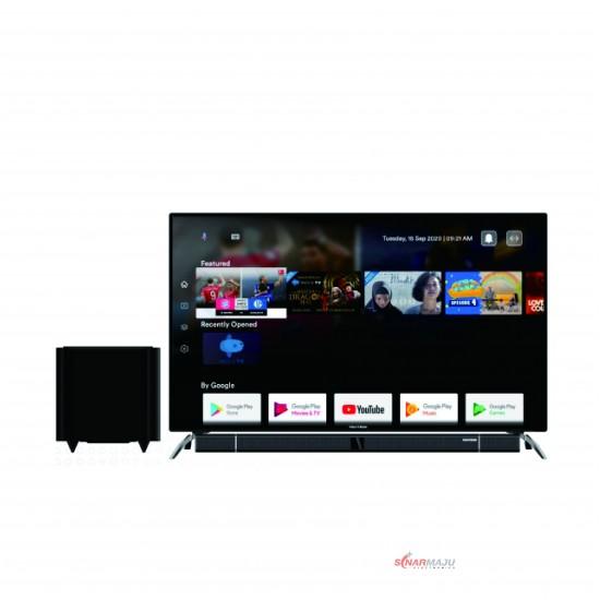 LED TV 55 Inch Polytron 4K UHD Cinemax Soundbar PLD-55BUA8859