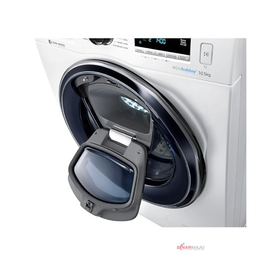Mesin Cuci 1 Tabung Samsung 10.5 Kg Front Loading WW-10K6410QW