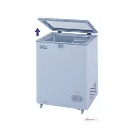 Lift Up Glass Door GEA Freezer 100 Liter SD-100F