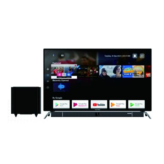 Polytron LED TV 50 Inch 4K UHD Android TV Cinemax Soundbar PLD-50BUA8859W