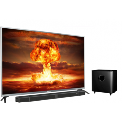 Polytron LED TV 55 Inch 4K UHD Cinemax Soundbar PLD-55BU8850