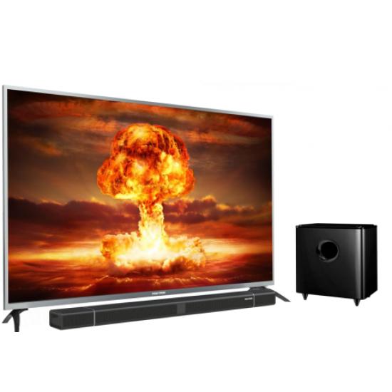 LED TV 55 Inch Polytron 4K UHD Cinemax Soundbar PLD-55BU8850/W