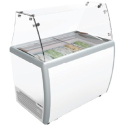 GEA Gelato Showcase Ice Cream Scooping Cabinet RI-260AUG